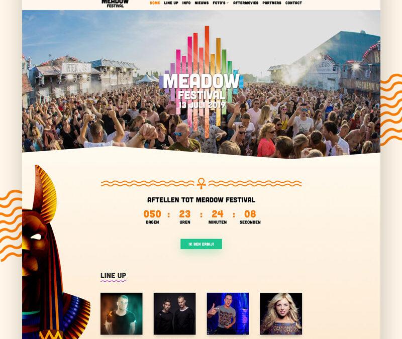 Nieuwe website voor Meadow Festival